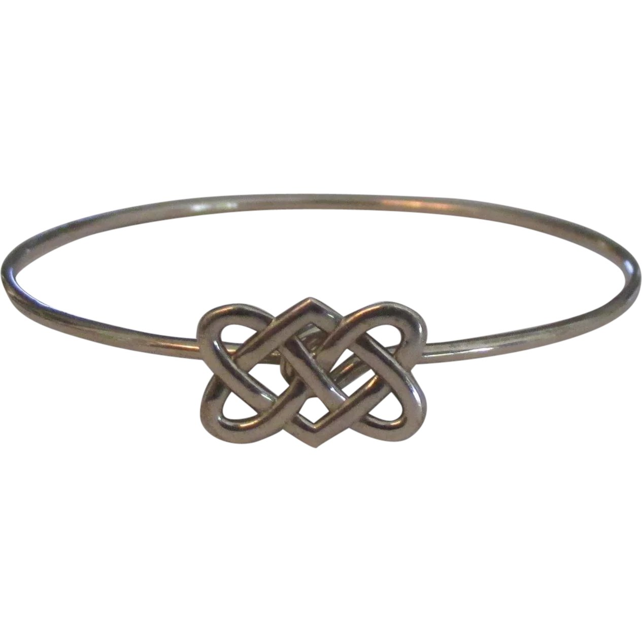 ffb924ee7 Signed Tiffany & Co Paloma Picasso Celtic Knot Sterling Bracelet : Del Mar  Classique | Ruby Lane