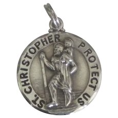 75adcc8e17a5a Old 1930's St. Christopher Be My Guide Medal Pendant - Plane, : Del ...