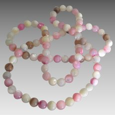"""Shimmering MOP Knotted Bead 28"""" Necklace"""