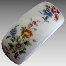 Kenneth Lane Royal Worcester Floral Porcelain Bangle Bracelet