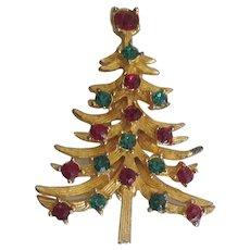 Vintage Signed Mylu Christmas Tree Pin