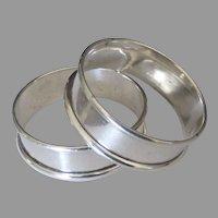 Sleek Estate Sterling Napkin Rings- Set of 2