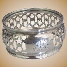 Exquisite Estate Pierced Sterling Napkin Ring