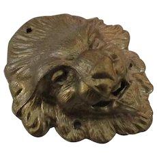 Vintage Brass Lion Head Hardware