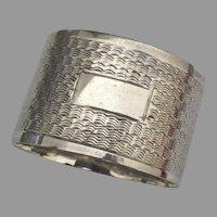 Vintage English Sterling Napkin Ring- No Monogram