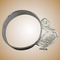 Adorable Webster Sterling Duck Napkin Ring