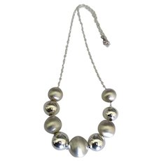 Gorgeous Chunky Sterling Bead Chain Necklace