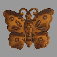 Attractive Copper Southwest Copper Butterfly Brooch