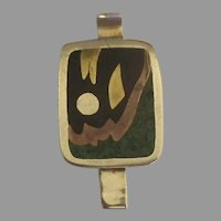 Vintage Taxco Sterling Inlaid Money Clip