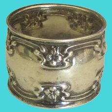 Antique Blankinton & Co Chased Sterling Napkin Ring