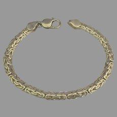 Attractive Sterling Byzantine Link Bracelet- 20 grams