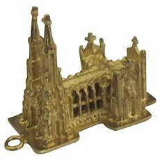 Vintage Gold Washed Wells Sterling St. Patrick's NYC Charm