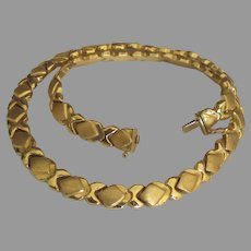 Gorgeous Chunky 14K Italian Gold Link Necklace