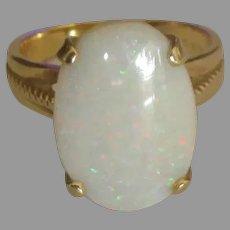 Stunning 14K Australian Opal Ring- Size 5  3/4