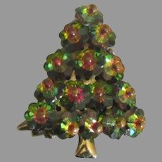 Vintage Fruit Salad Rhinestone Christmas Tree Pin