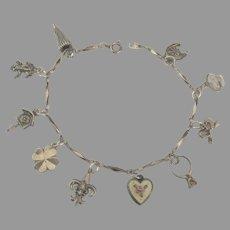 Feminine Dainty Sterling Charm Bracelet