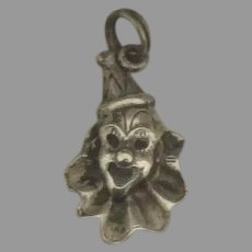 Detailed Vintage Cellini Sterling Clown Charm