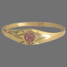 Pretty Vintage 10K Pink Paste Baby Ring