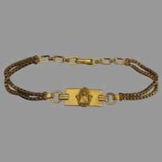 Vintage Balfour GF Alpha Gamma Delta Sorority Bracelet