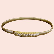 Attractive Vintage Accessocraft Stretch Gold Plated Belt