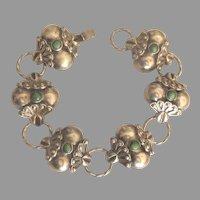 Beautiful Vintage Sterling Turquoise Fancy Link Bracelet