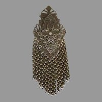 1930's Filigree Chain Fringe Fur Clip