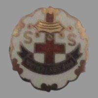 Vintage Enamel Presbyterian Pin Charm or Pendant