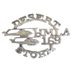 Sterling Desert Storm Marine Helicopter Pin