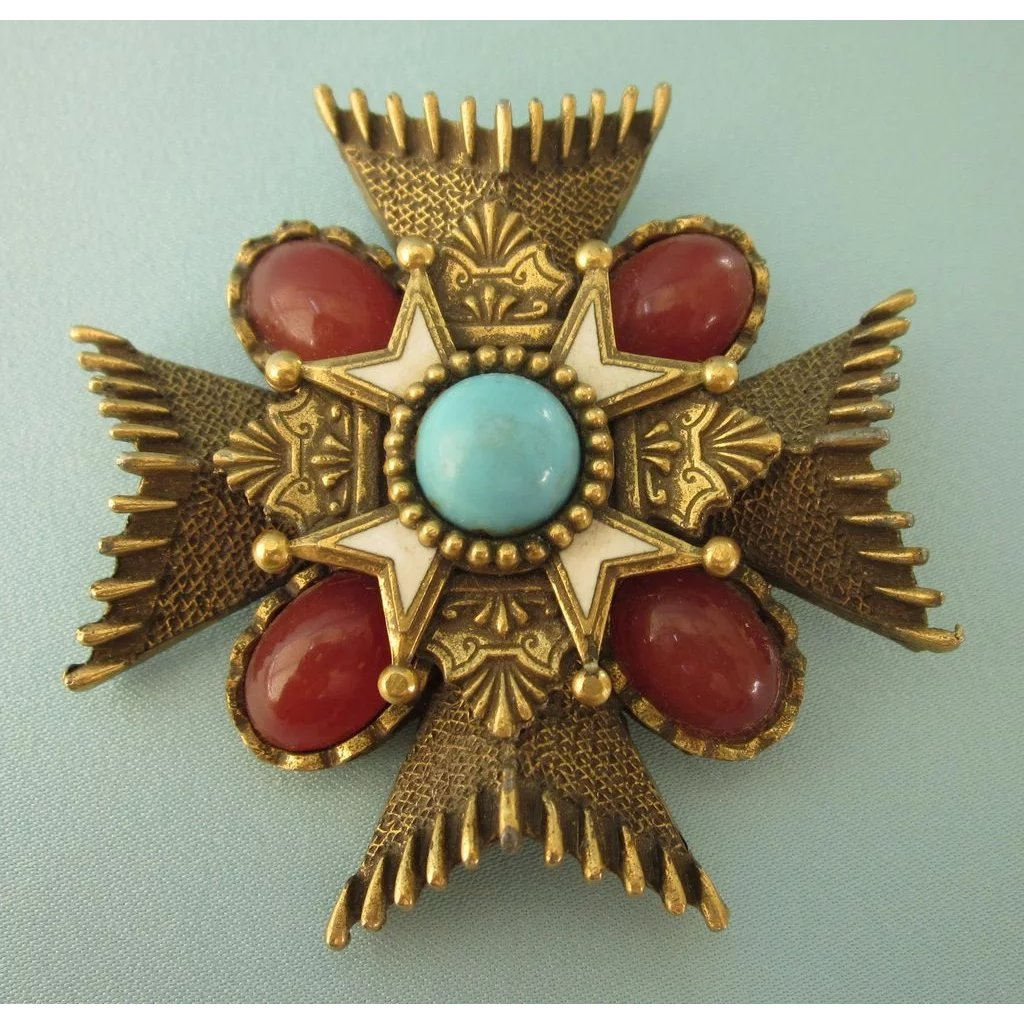 square past cross with compasses asp orange red brooch gilt p enamel masters jewel order
