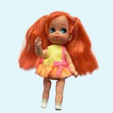 1967 Mattel Liddle Kiddle vintage SKEDIDDLE Kiddle Tracy Trikediddle Doll