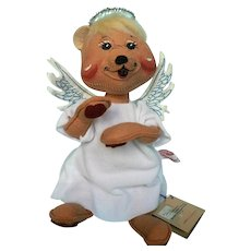 """1993 Rare Annalee Angel Bear, """" Unbearably Angelic""""  8 1/2"""" Tall Excellent Condition"""