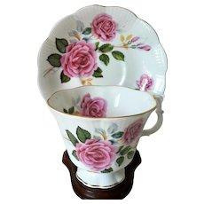 Vintage Royal Albert Bone China Rose Pattern Cup & Saucer set