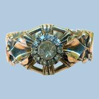 Gold Filled Sweetheart Expansion Bracelet -  Sparkley Rhinestones