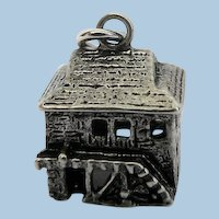 Vintage Sterling Silver Mill Wheel House Charm