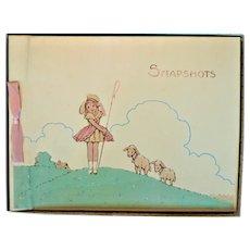 1940s-Early 50's Little Bo Peep Nursery Rhyme Unused Photo Album So Cute! MIB