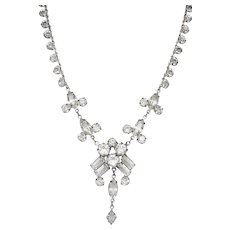 Vintage Art Deco 1930's Czechoslovakian Crystal Necklace