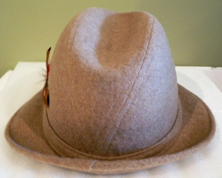 aaa0c3cc Old New Stock Men's Stetson Fedora Camel Colored Wool Felt Hat ...