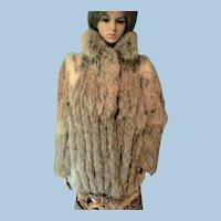 Gorgeous Nutria (Coypu) Genuine Fur Coat S-M