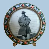 Turn of Century Micro Mosaic Miniature Table Top Frame