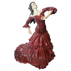 "Beautiful Coalport Figurine "" Bolero "" from A Passion For Dance Collection # 946/9,500"