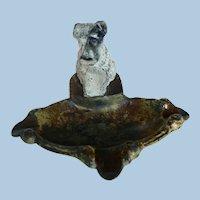 Circa 1930s-40s Cast Iron Terrier Dog British Ashtray