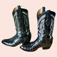 Trinity River Boot Co. Genuine Caiman Alligator Cowboy Boots Mens 10D