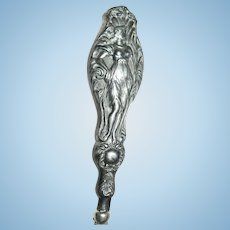 Antique Art Nouveau Silverplate File / Letter Opener Ceres Harvest Goddess