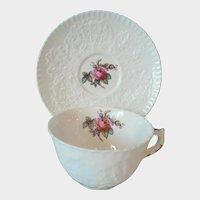 "Vintage Spode Bone China Cup & Saucer "" Bridal Rose "" Pattern Y2862 (No Gold Trim)"