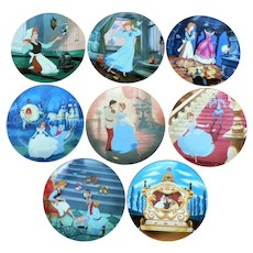 1980's Walt Disney Limited Edition 8 Plate Cinderella Series by E. Knowles Complete Set Mint