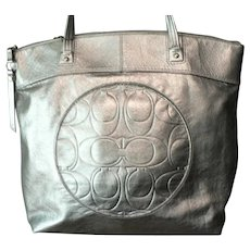 Coach Laura F18336 Champagne Leather Large Tote Carryall Women's Shoulder Bag