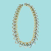 1940's Vintage Trifari Sweetheart Crystal Necklace