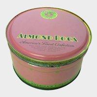 Vintage Almond Roca Tin 1944 USA