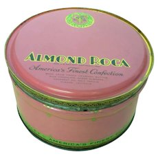 Vintage Almond Roca Tin 1944 USA
