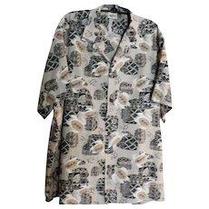 Genuine Hawaiian Shirt Extra Large Sea Tortoise Turtle Design Hawaii New Old Stock